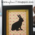 Framed Bunny Silhouette