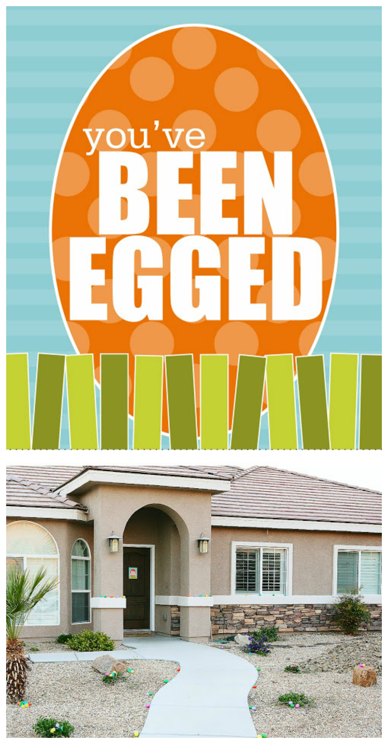 You've Been Egged! Such a fun Easter Tradition.
