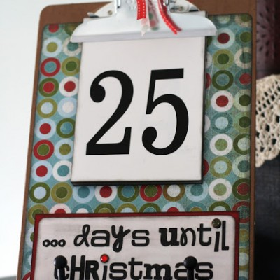 {Christmas Advents} Countdown Clipboard