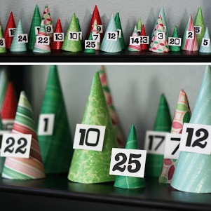 {Christmas Advents} Cones