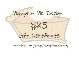 {Giveaway} Pumpkin Pie Design