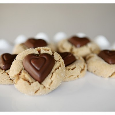 Peanut Butter Blossoms (Valentine's Day Style)