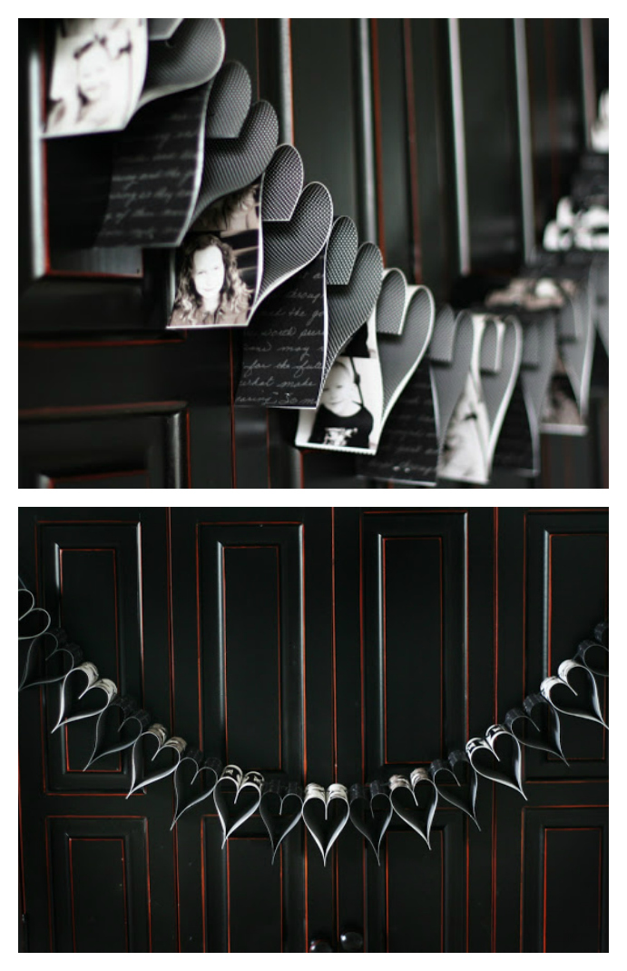 Photo Strip Heart Garland