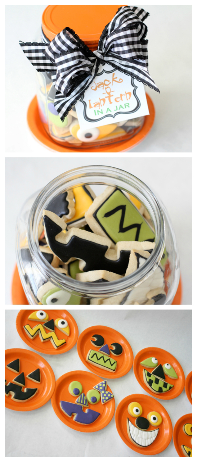 jack-o-lantern in a jar cookies