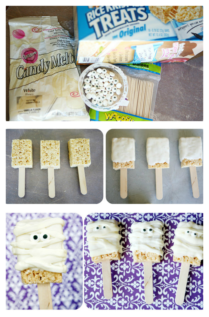 Mummy Rice Krispie Treats | Halloween Treat Ideas