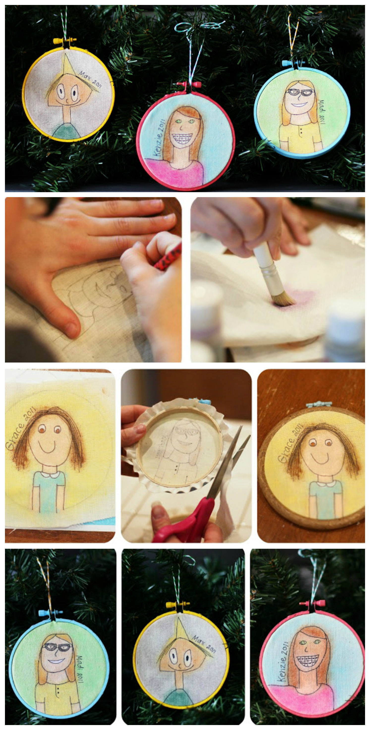 Self Portrait Ornaments The Kids Can Make | The cutest ornaments ever!