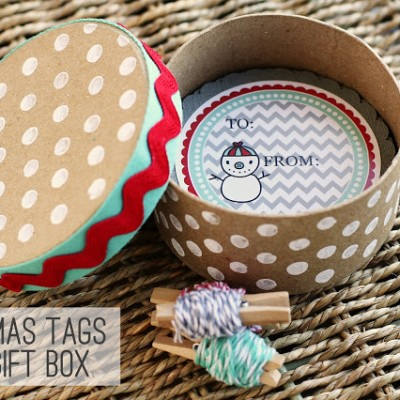 Christmas Tags + Gift Box