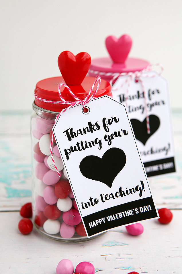 Valentine's Day Teacher Gift Idea | Thanks For Putting Your Heart Into Teaching