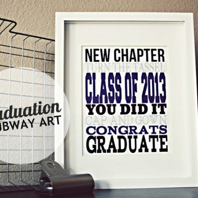 Graduation Subway Art 2013