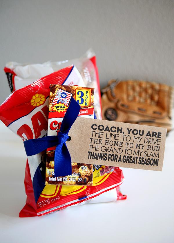 Baseball Coach Gift Tags & Baseball and Volleyball Gift Tags - Eighteen25