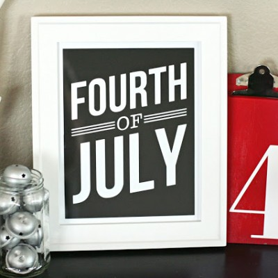 Simple Fourth of July Art