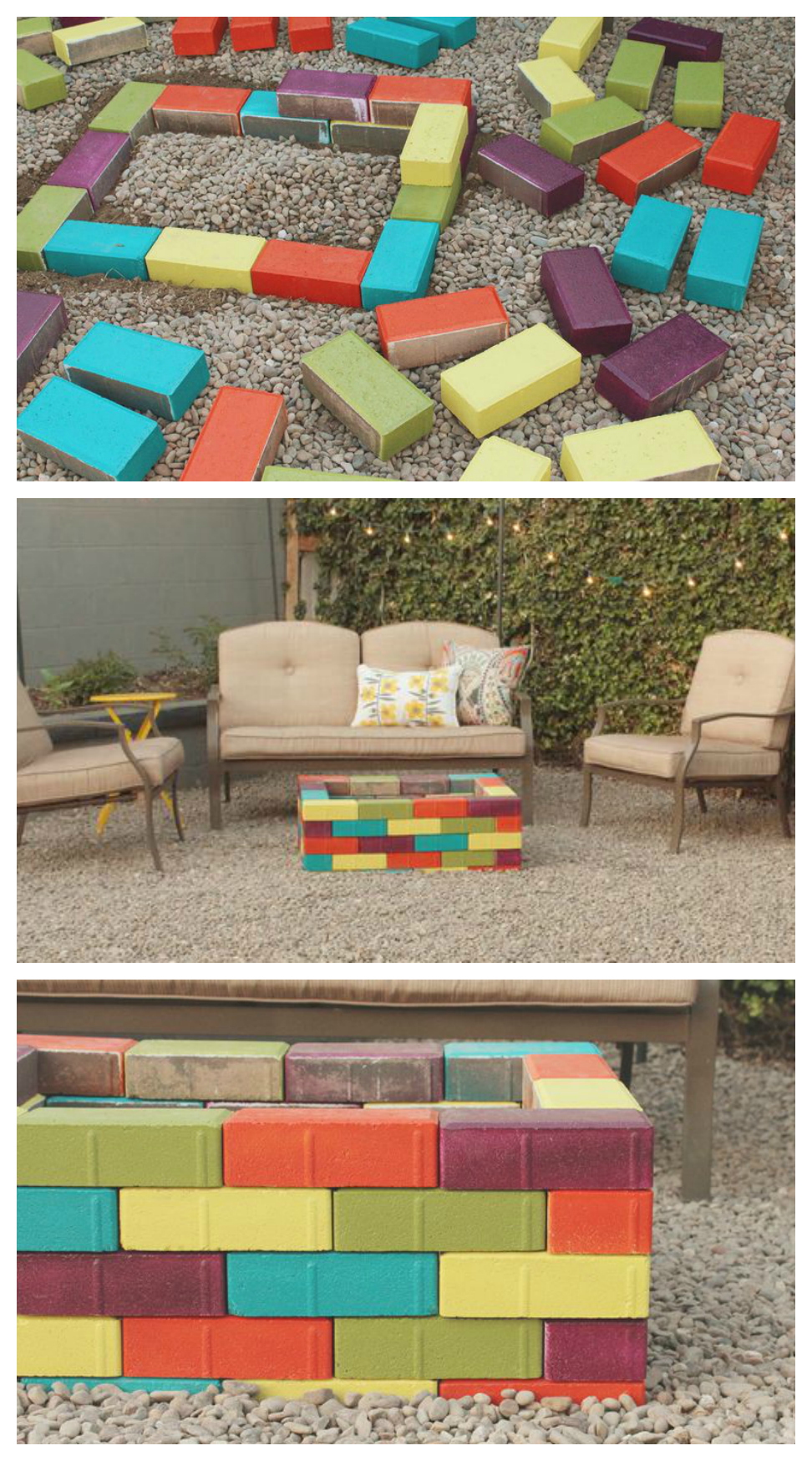 DIY Colorful Backyard Fire Pit