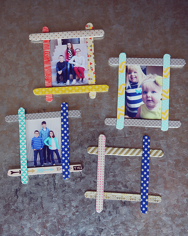 Simple and adorable frames using regular popsicle sticks!