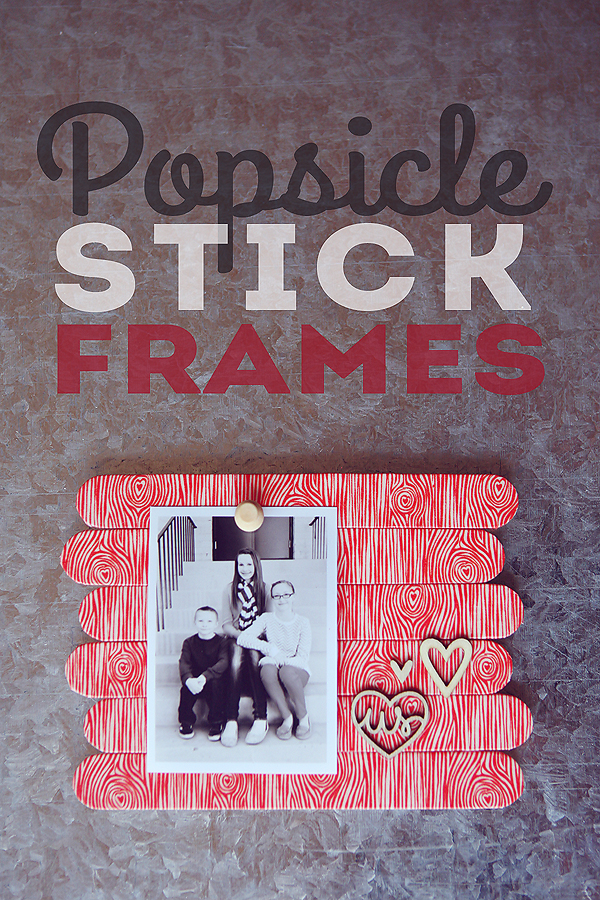 Make these adorable frames using inexpensive Popsicle Sticks and Washi Tape!