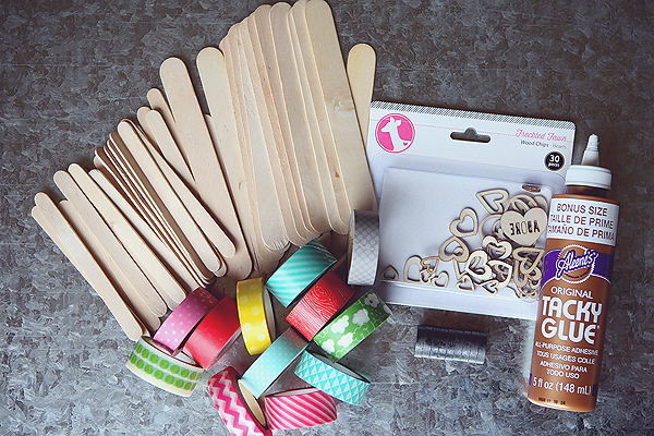 popsicle stick frame supplies