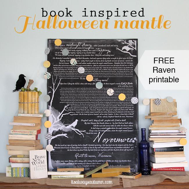 halloween-mantle-decorating-raven-printable
