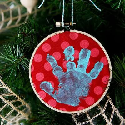 Baby Handprint Ornament