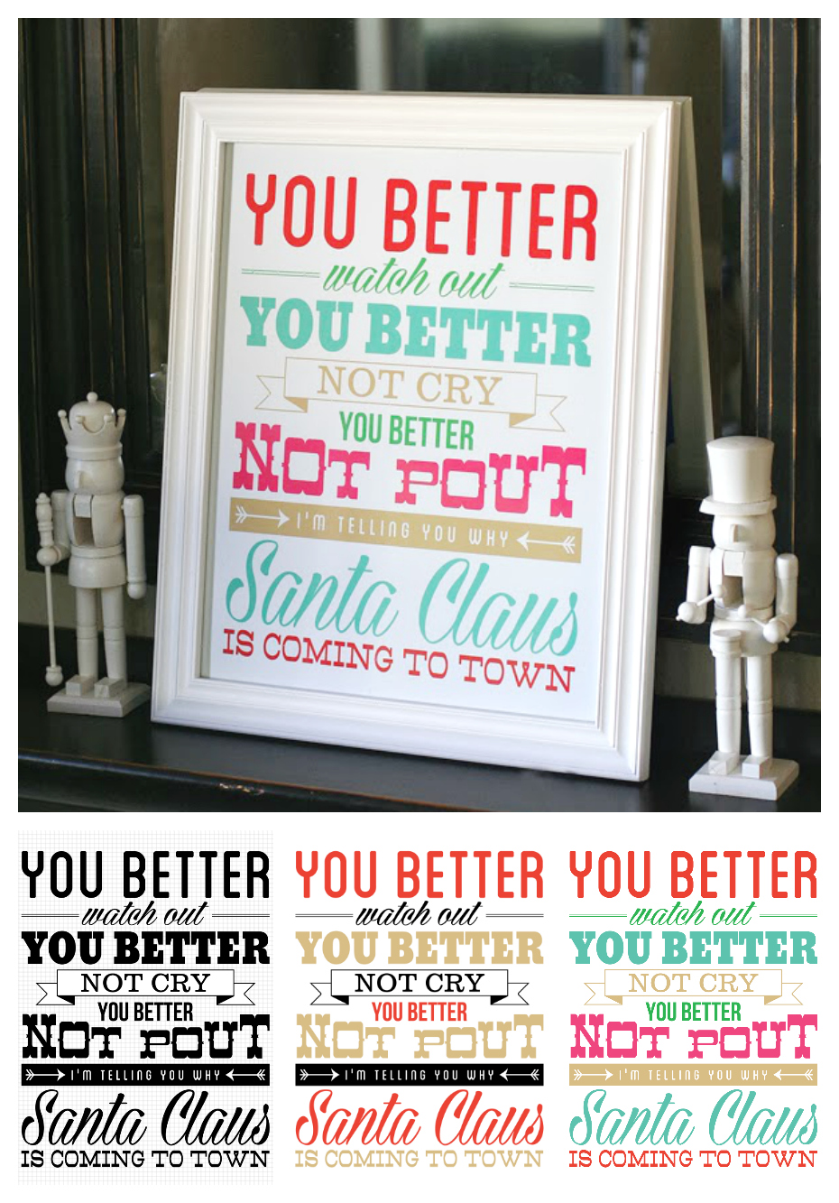 Santa Claus Is Coming To Town Printable | Free Christmas Printable Art
