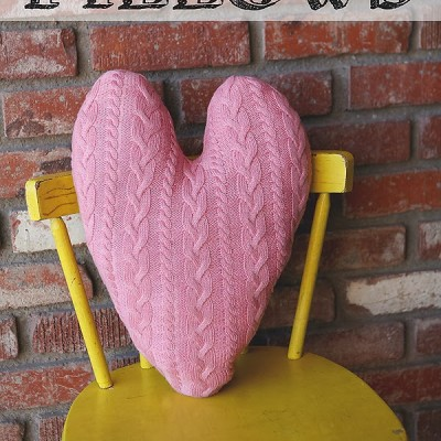 Sweater Heart Pillows