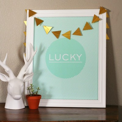 St. Patrick's Day LUCKY Print