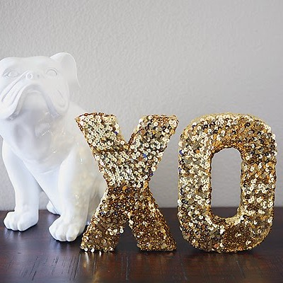 million dollar sequin letters