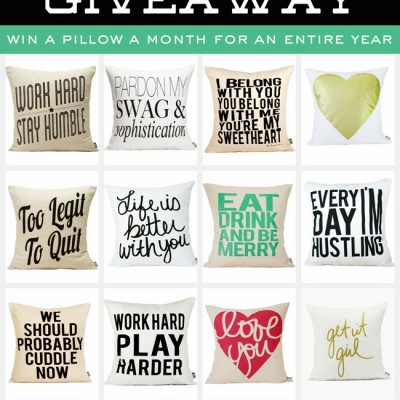 Win Pillows For A Year!