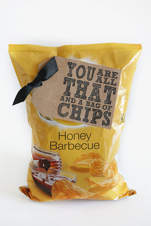 Quick and Cheesy Valentines. You are all that and a bag of chips! Four other fun and inexpensive ideas too. eighteen25.com