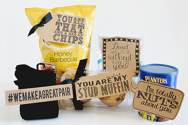 Quick and Cheesy Valentines! Give a fun little gift to your sweetheart for the 5 days leading up to Valentine's Day.
