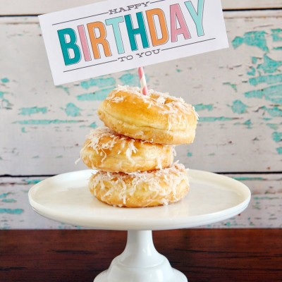 Birthday Morning Treats Printable