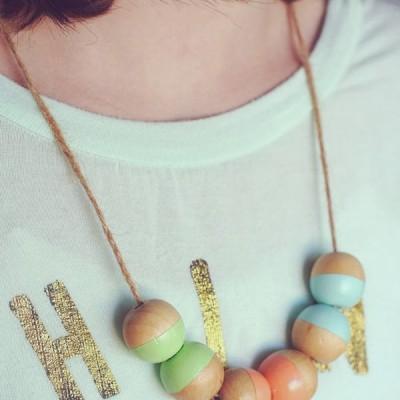 DIY Color Blocked Necklace