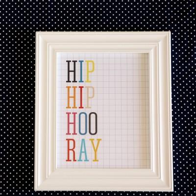 Hip Hip Hooray Print