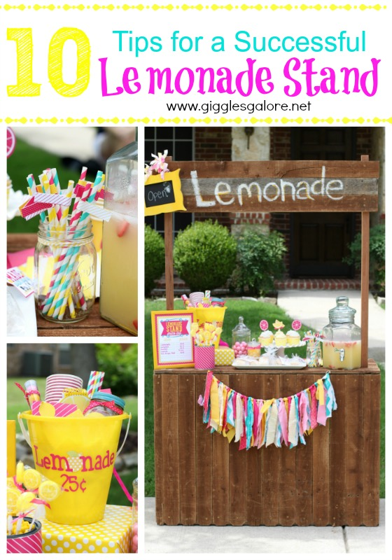 Tips for a Successful Summer Lemonade Stand | Giggles Galore