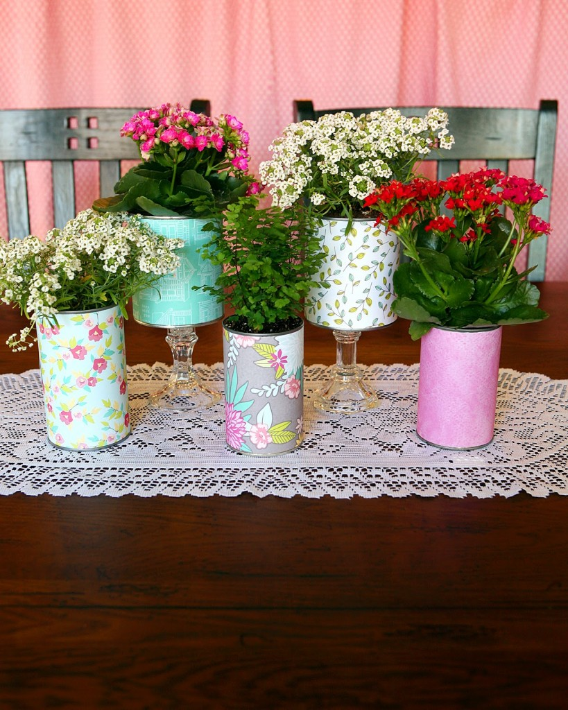 pretty recycled flower pots - eighteen25
