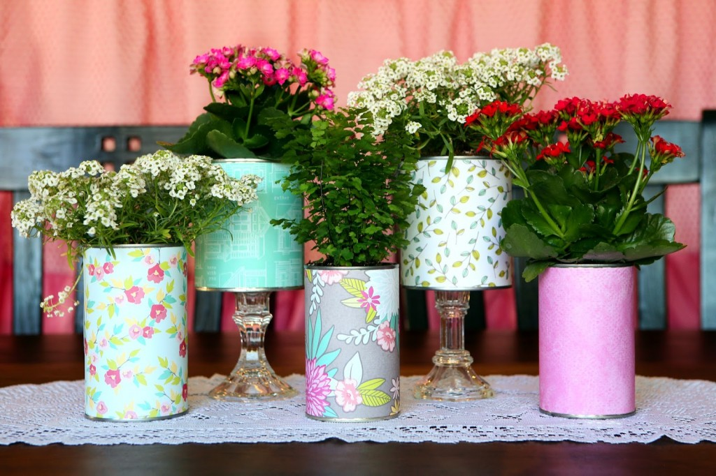 Pretty Recycled Flower Pots Eighteen25