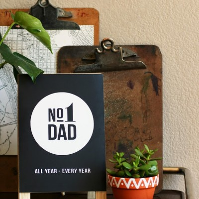 Father's Day | No.1 Dad Easel