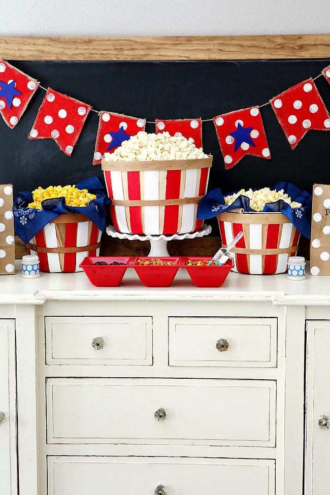 Fourth of July Popcorn Bar | Fun 4th of July Ideas!