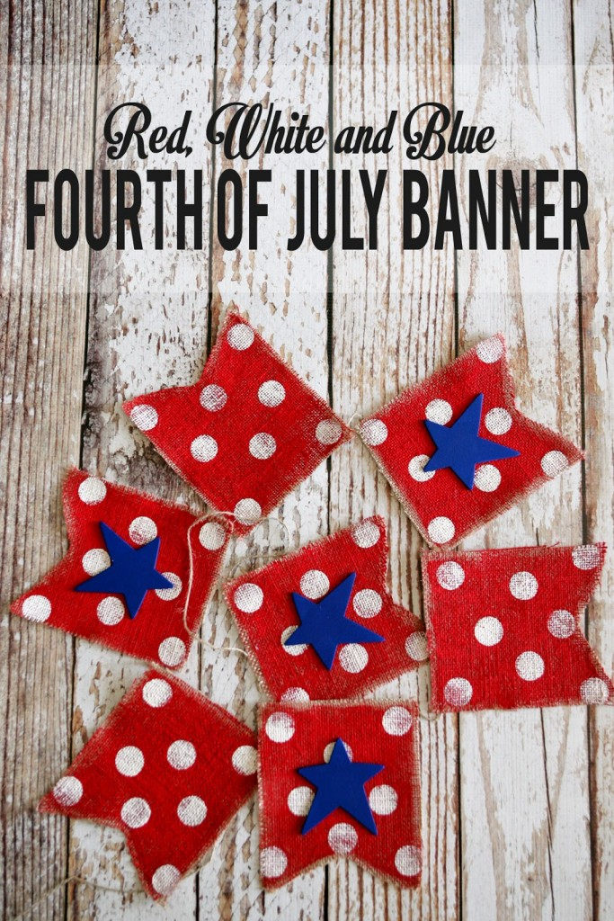 Red, White and Blue 4th of July Banner