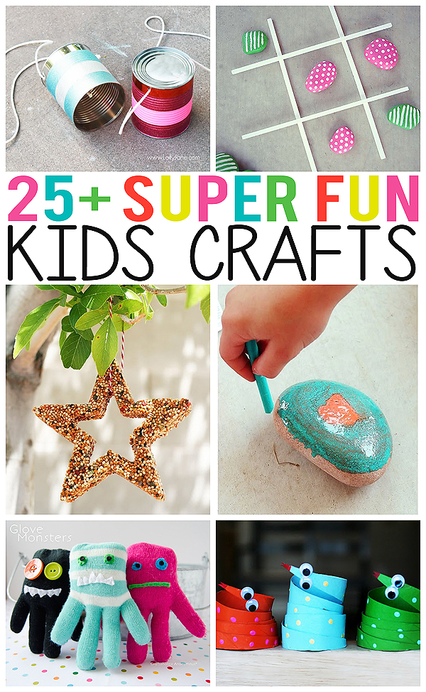 25 super fun kids crafts eighteen25 for Cool easy crafts for kids