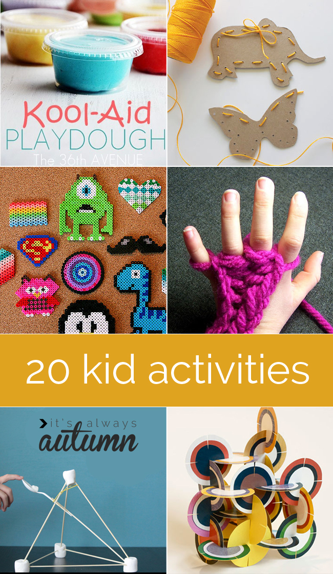 20 Indoor Kid Crafts and Activities | It's Always Autumn