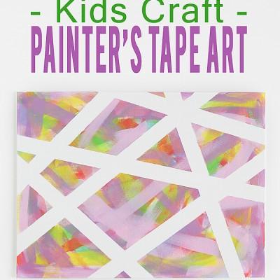 Kids Craft – Painters Tape Art