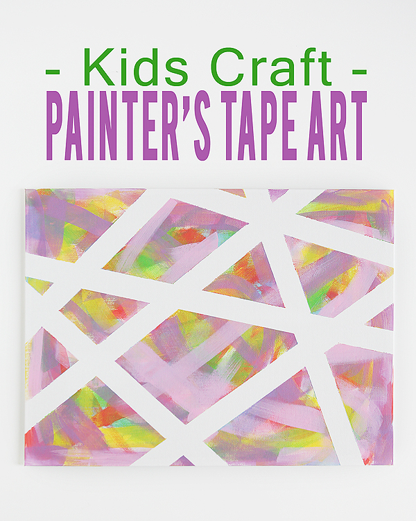 kids craft painters tape art eighteen25. Black Bedroom Furniture Sets. Home Design Ideas