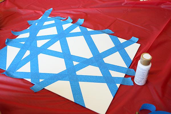 Kids Craft Painters Tape Art
