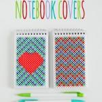 Perler Bead Notebook Covers