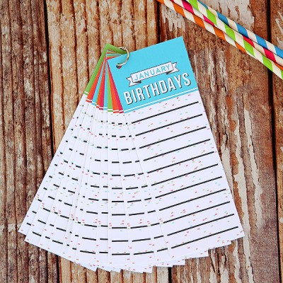 Birthday Tracker Tags