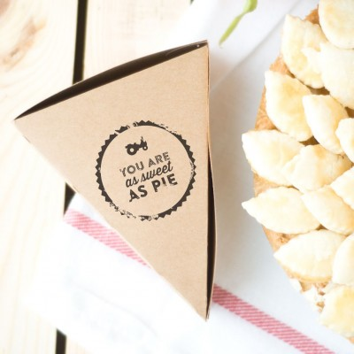 DIY Pie Box Party Favors