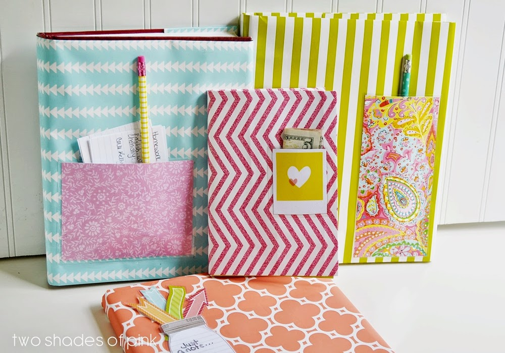 Paper Book Cover Diy : Wrapping paper book covers eighteen