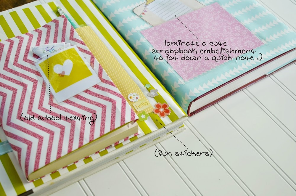 How To Make A Book Cover With Gift Wrap : Wrapping paper book covers eighteen