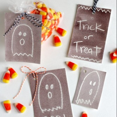 Halloween Watercolor Gift Tags