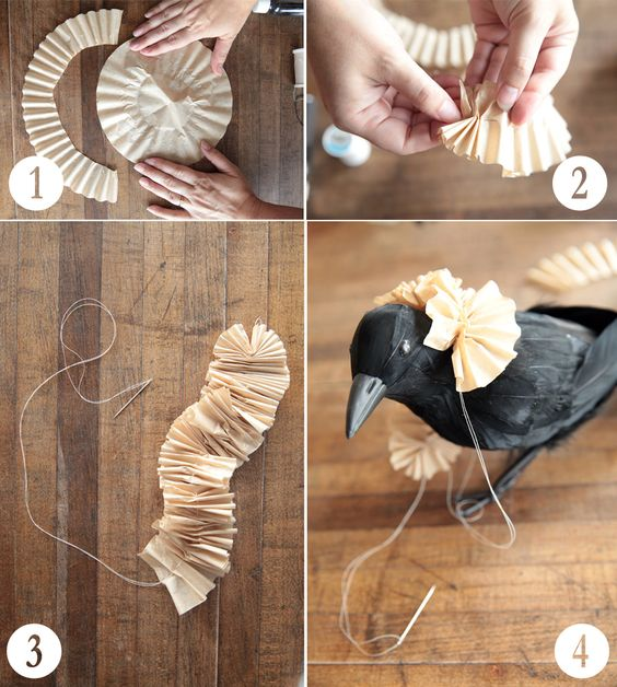How to make a collar from a coffee filter