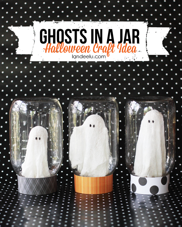 Ghost In A Jar Halloween Craft Idea